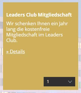 Gratis Leaders Club Mitgliedschaft