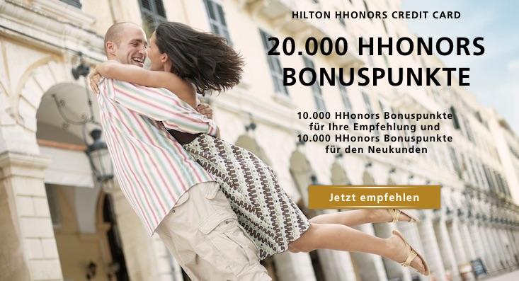 HHonors Kreditkarte Werben
