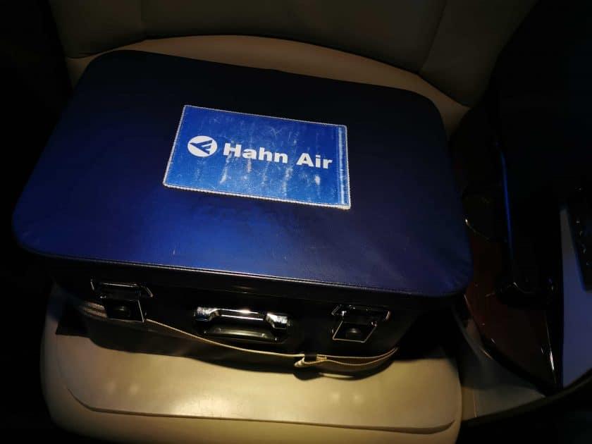 Hahn Air Bewertung Bordbar geschlossen