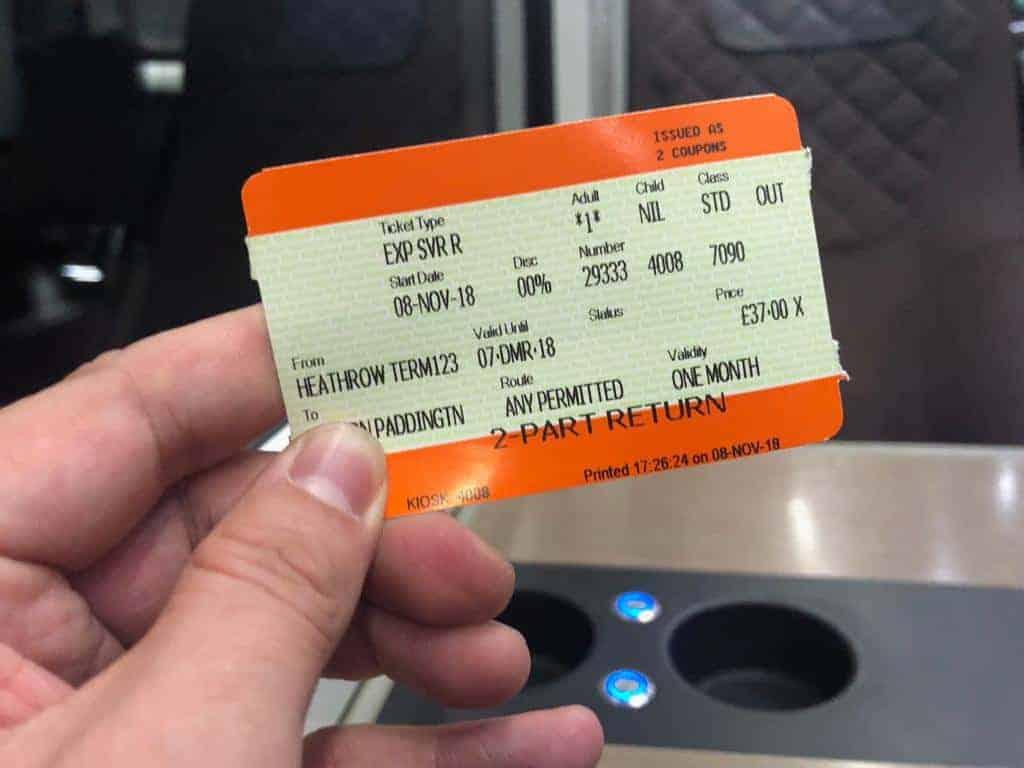 Heathrow Express Fahrkarte