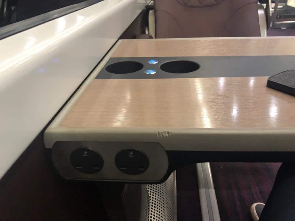 Heathrow Express Steckdosen