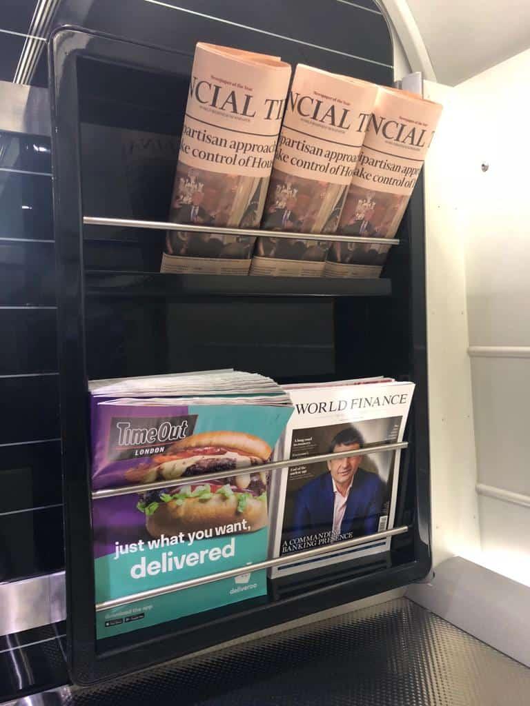 Heathrow Express Zeitungen