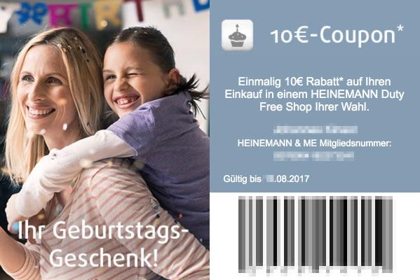 Heinemann Duty Free Geburtstagsgutschein