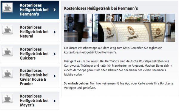 Heinemann & Me: gratis Bier, Kaffee, Wein an vielen Flughäfen ...