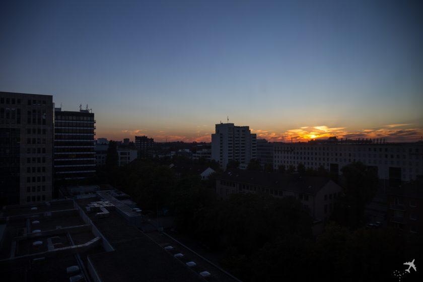 Hilton Düsseldorf Ausblick