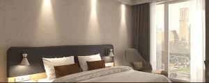 Holiday Inn Hamburg Bett