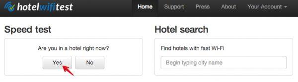 Eine Bewertung bei HotelWiFiTest.com abgeben