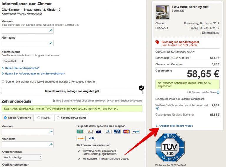 Gutscheinfeld bei Hotels.com anzeigen