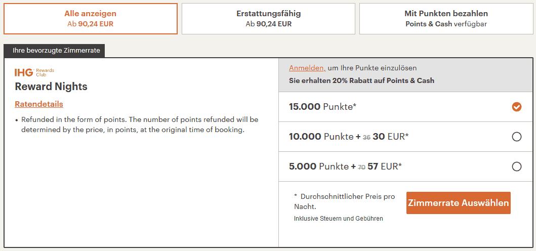 IHG Points Cash Munich