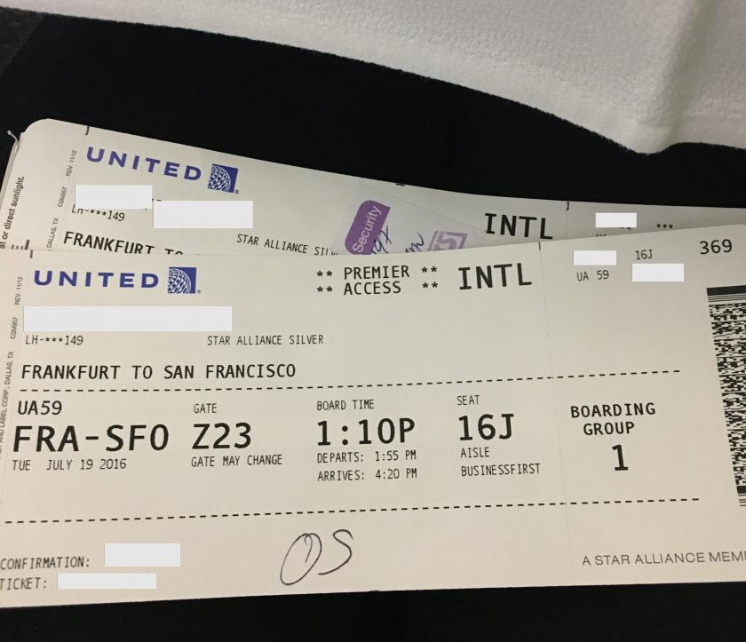 United Airlines Boarding Pass