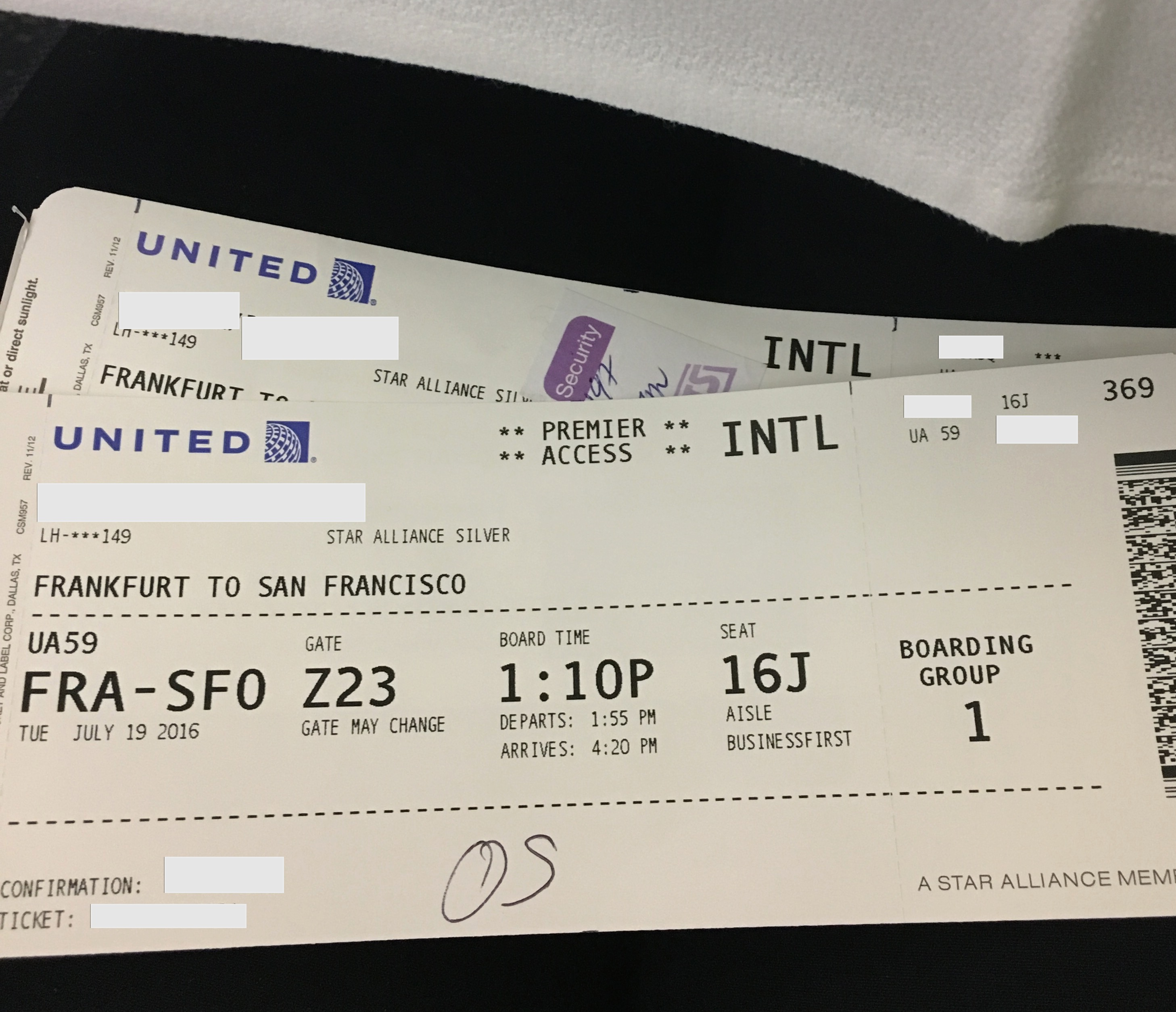 Bewertung United Airlines Business Class Businessfirst