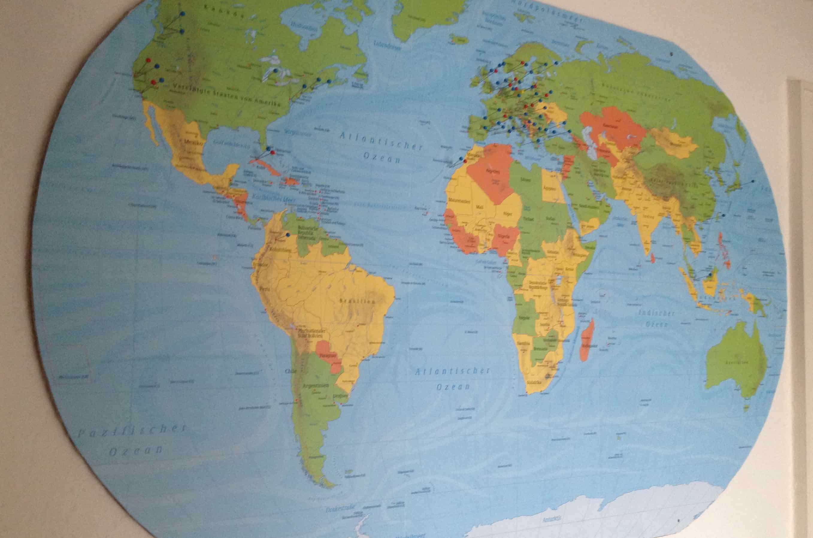 Kostenlose Weltkarte Europakarte Inkl Bastelanleitung Travel