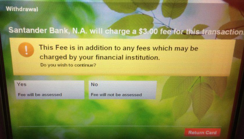 Gebühr Geldautomaten