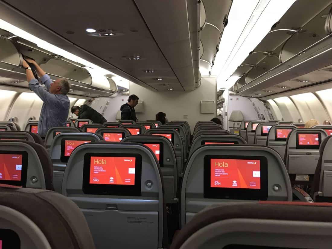 Iberia A340 Kabine