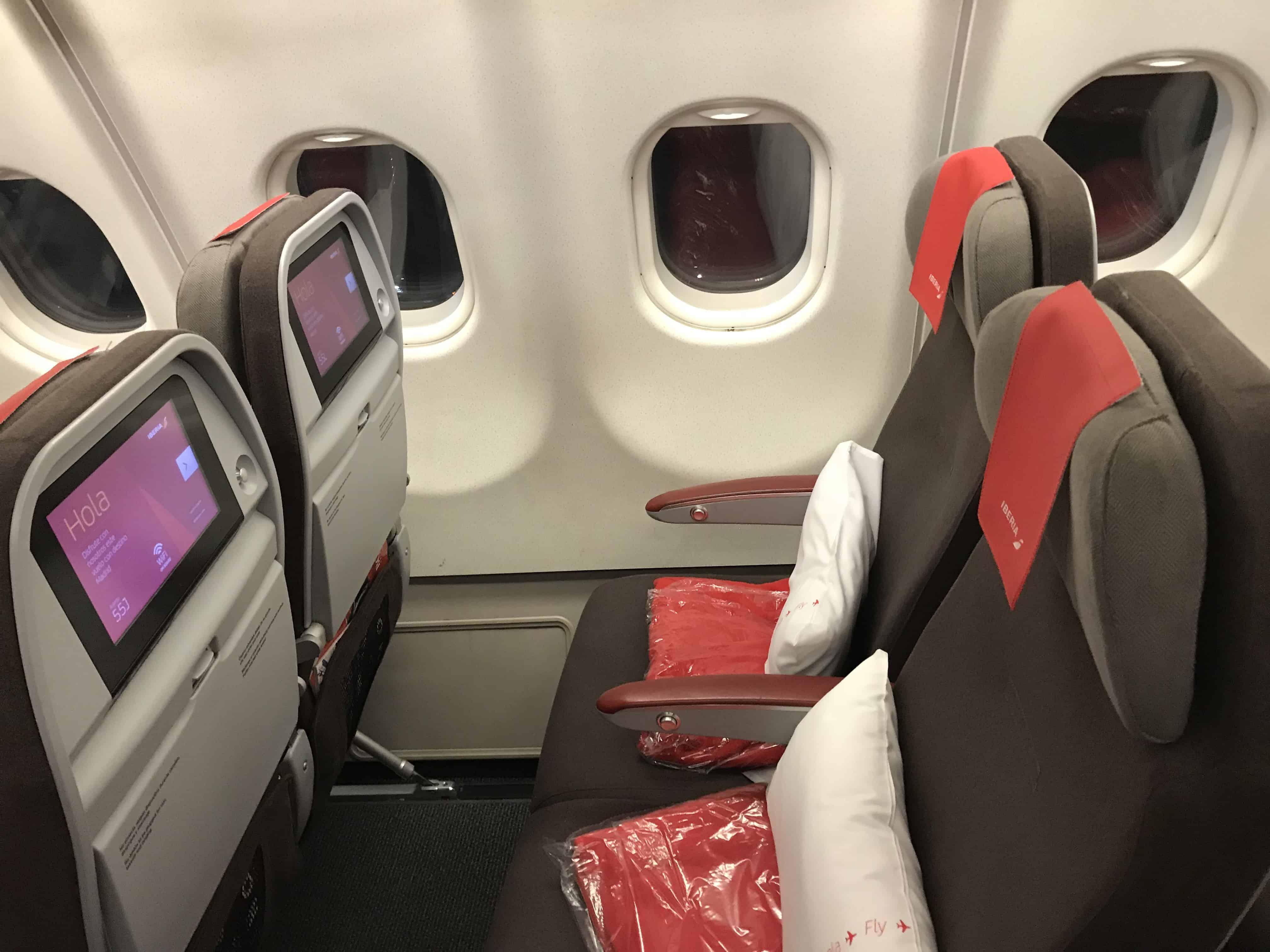 Iberia A340 Sitze
