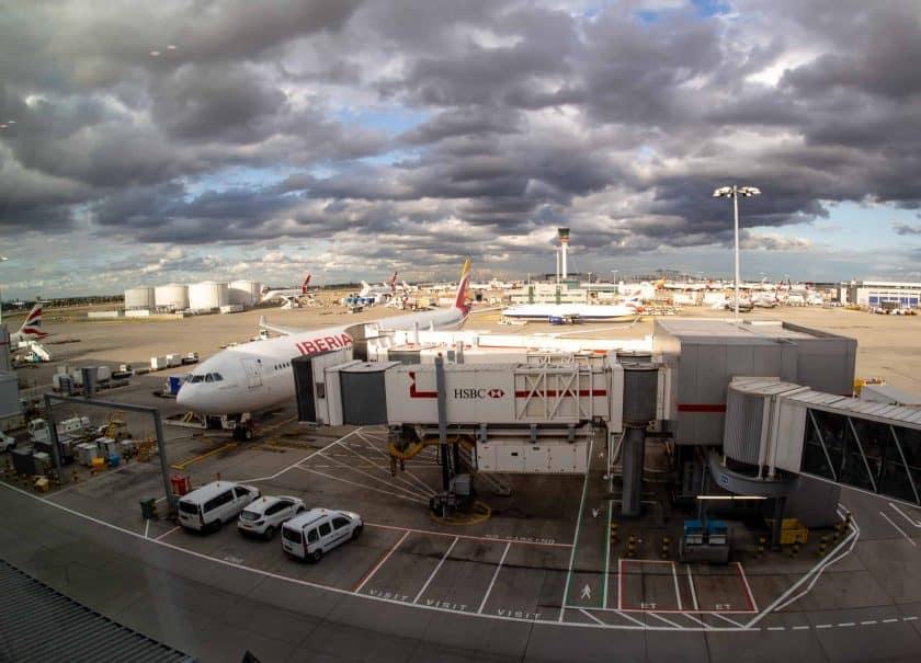 Iberia Airbus A340 600 Gate LHR