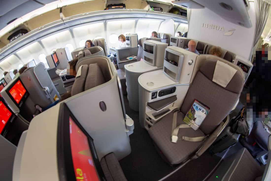 Iberia Business Class Aisle
