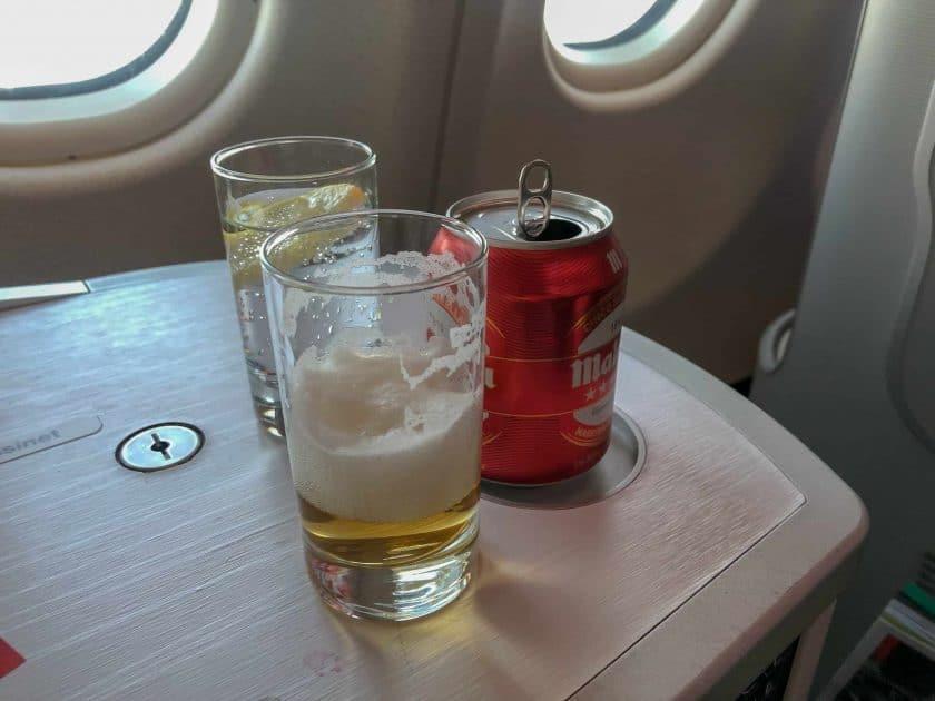 Iberia Business Class Beer