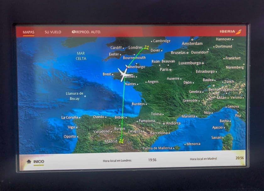 Iberia Business Class Moving Map