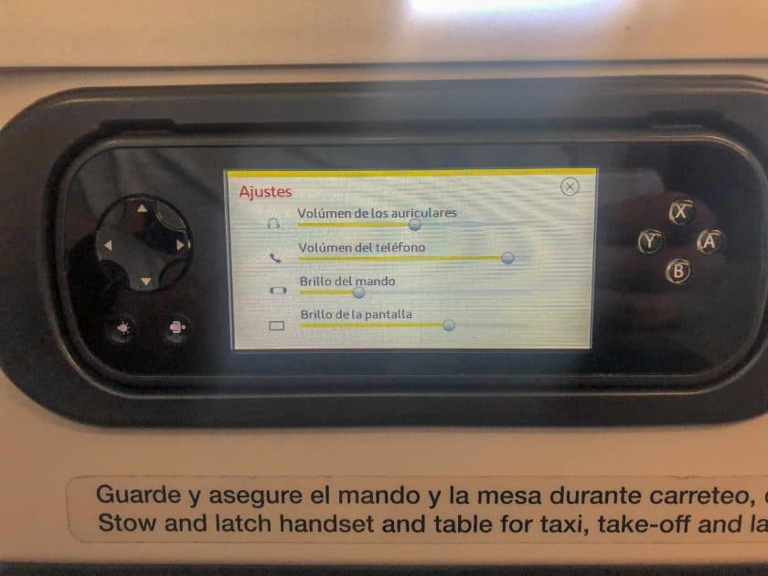 Iberia Business Class Remote Control 2
