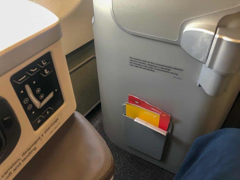 Iberia Business Class Seat 5