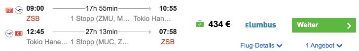 Idealo ZSB HND Lufthansa