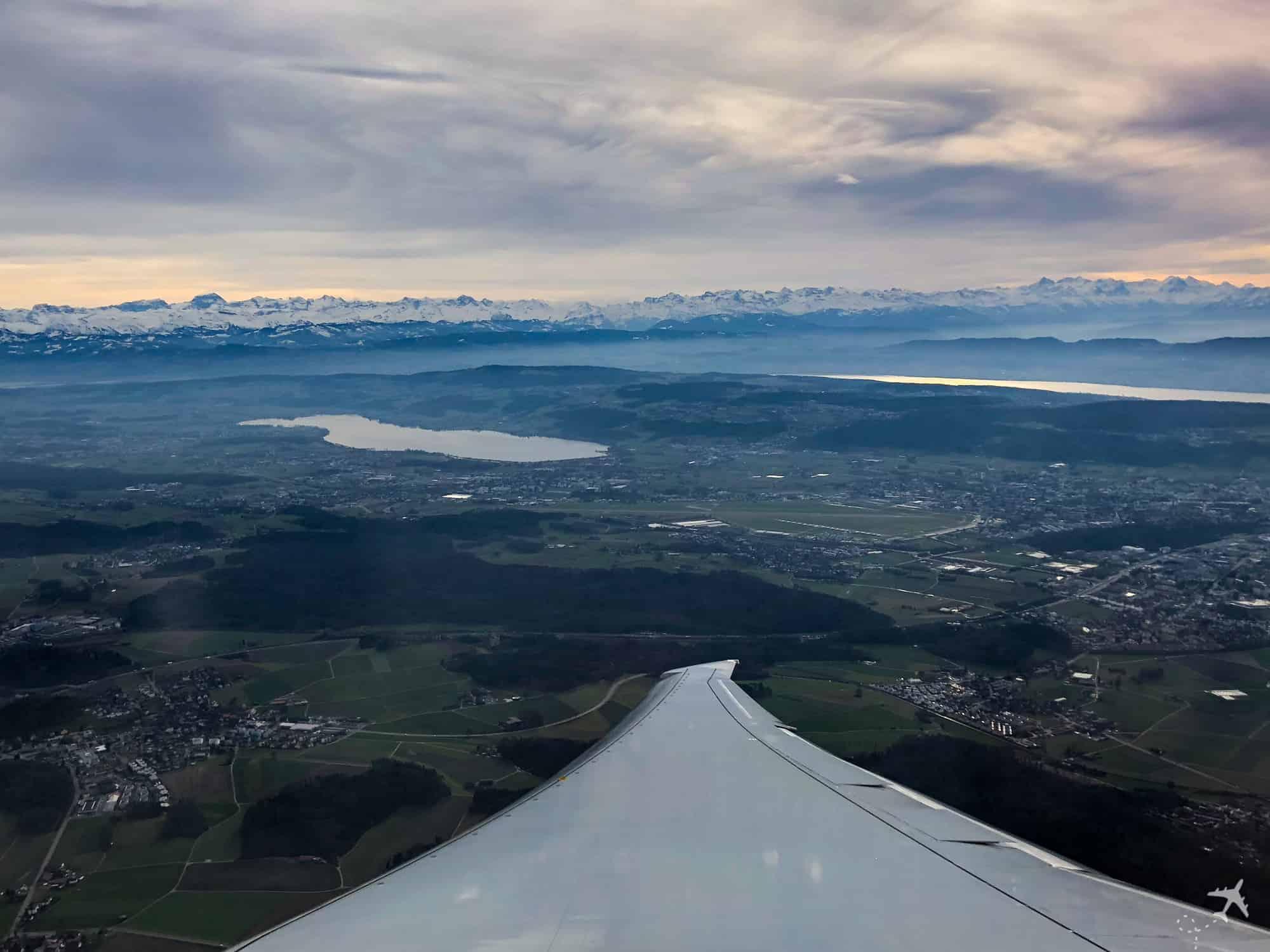 InFlight Swiss Boeing 777 Alpen