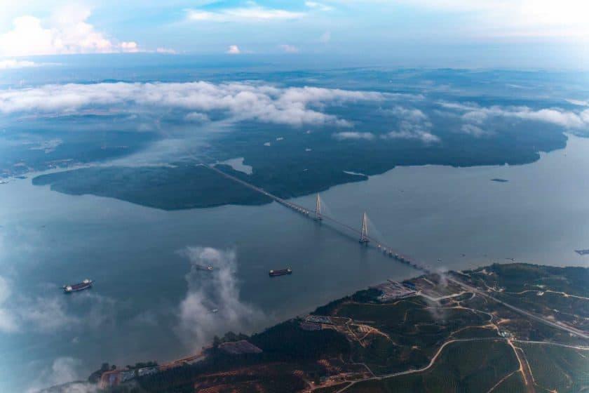 Inflight Sungai Johor Bridge Malaysia