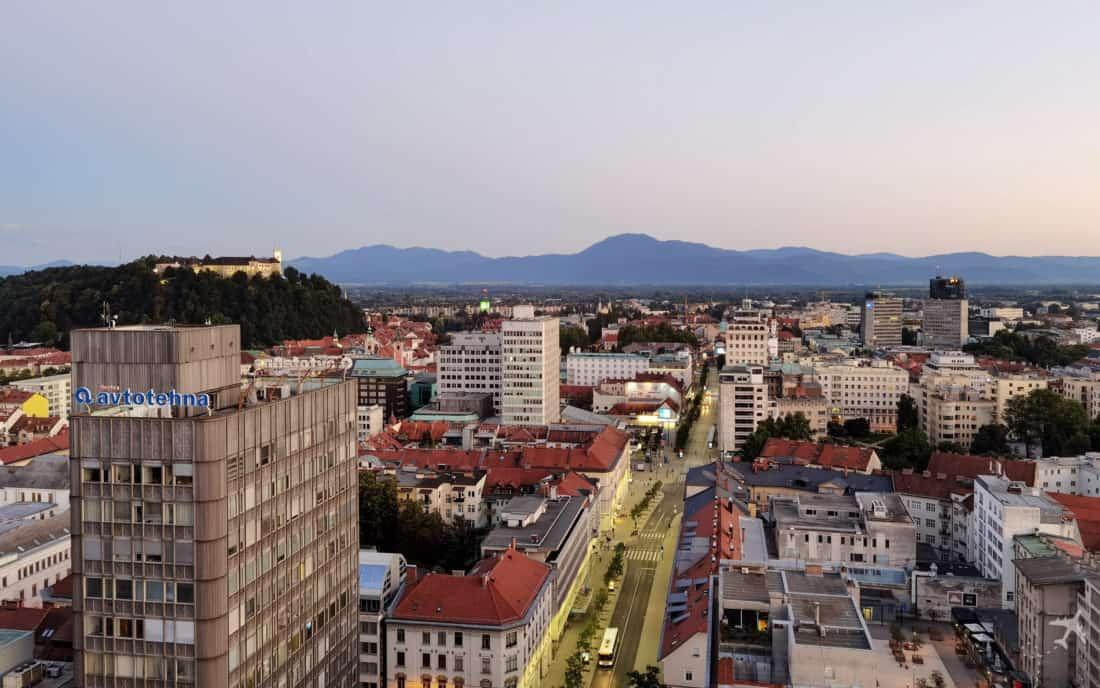 Intercontinental Ljubljana Aussicht