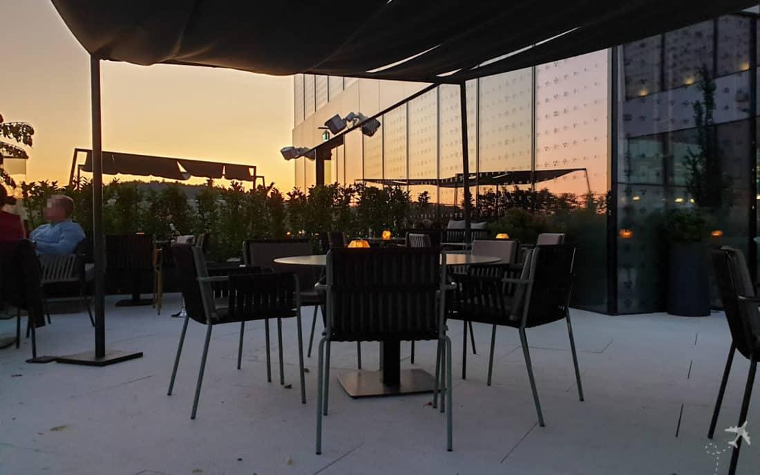 Intercontinental Ljubljana Restaurant Dachterrasse