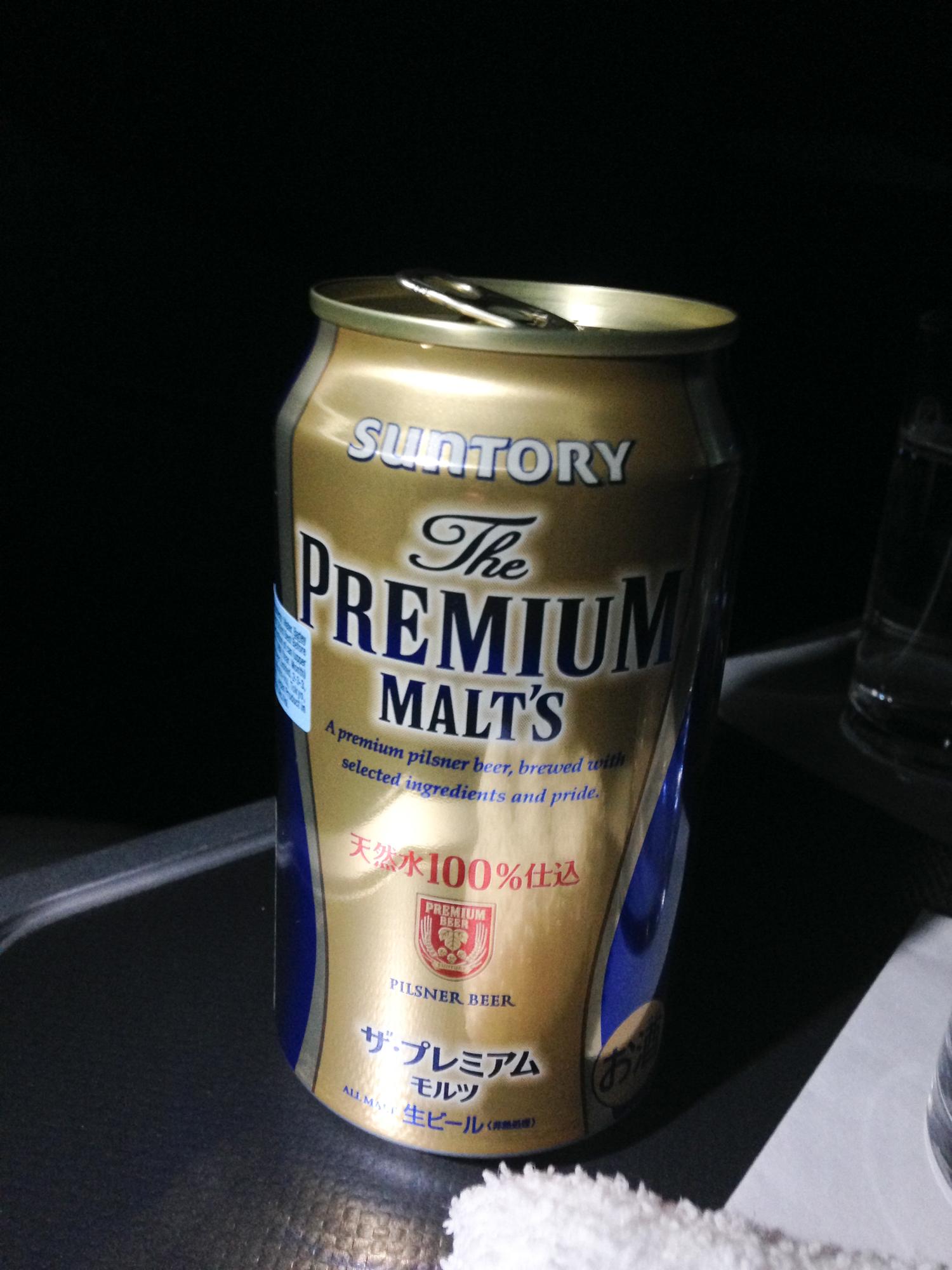 JAL Business Class 787 Bier