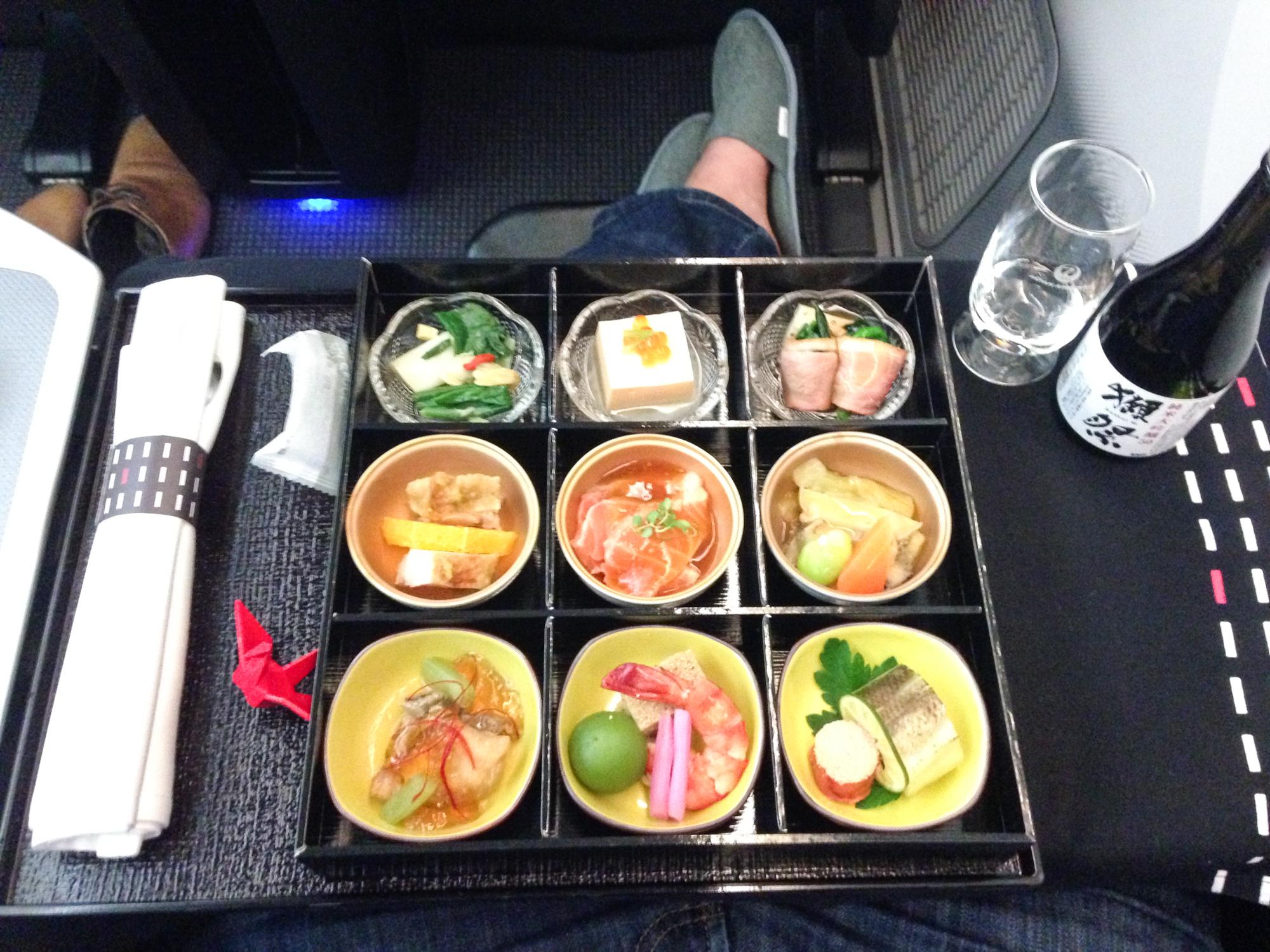 JAL Business Class 787 Essen
