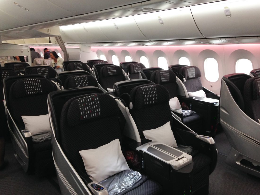 JAL Business Class Boeing 787 Kabine