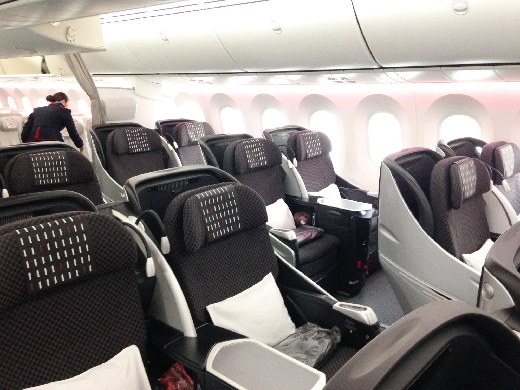 JAL Business Class Boeing 787 Sitze Vorne