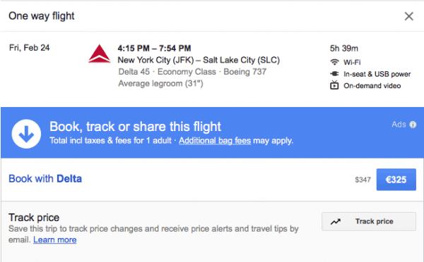 Direktflug New York - Salt Lake City