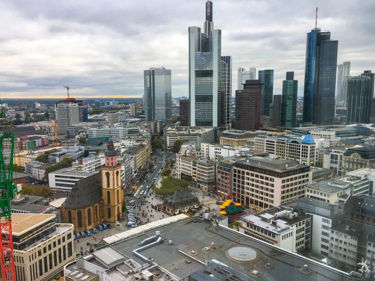 Jumeirah Hotel Frankfurt Ausblick Skyline