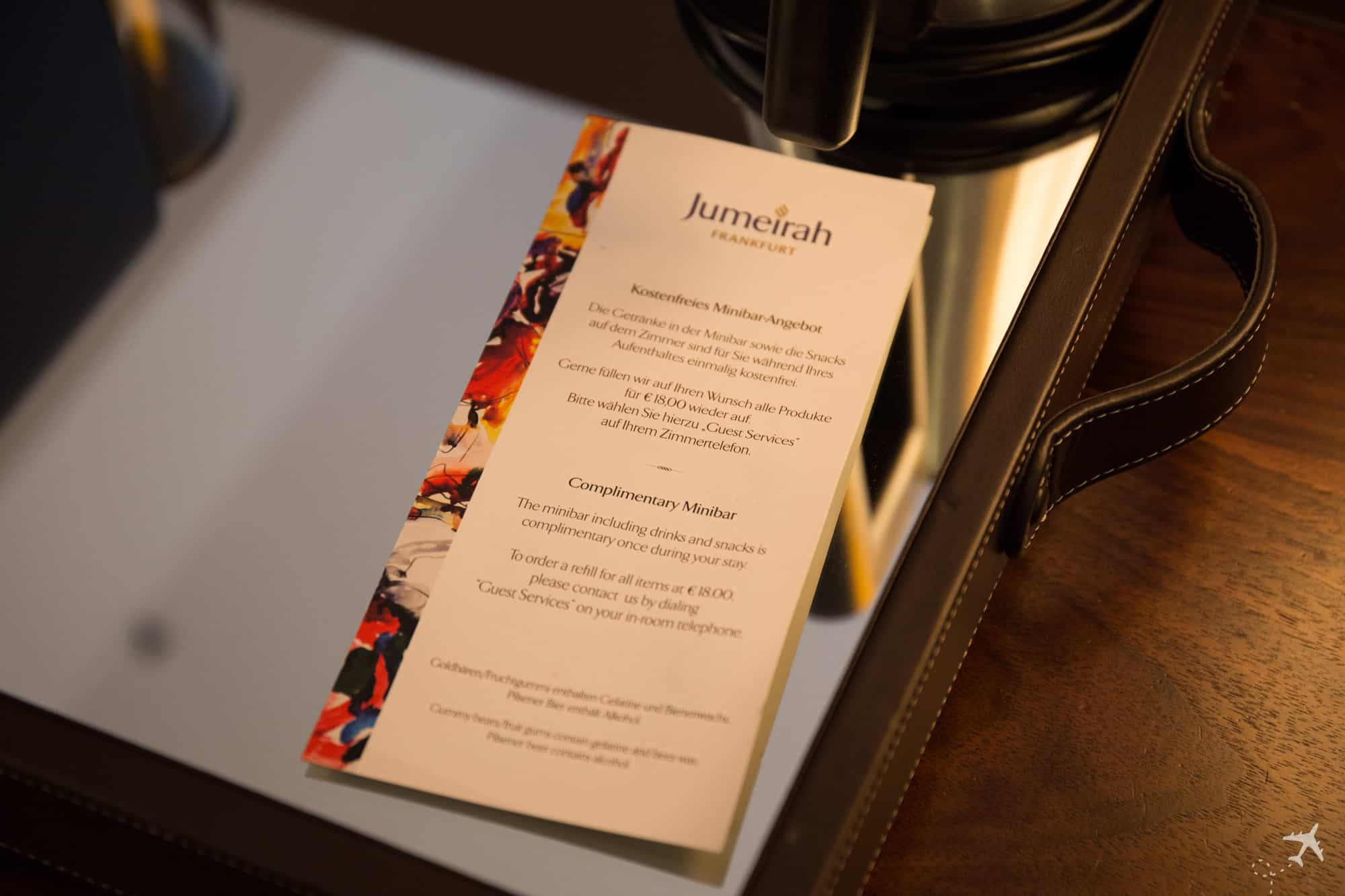 Jumeirah Hotel Frankfurt Kostenfreie Minibar