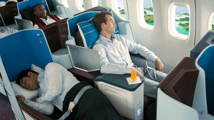 KLM 777 Business Class