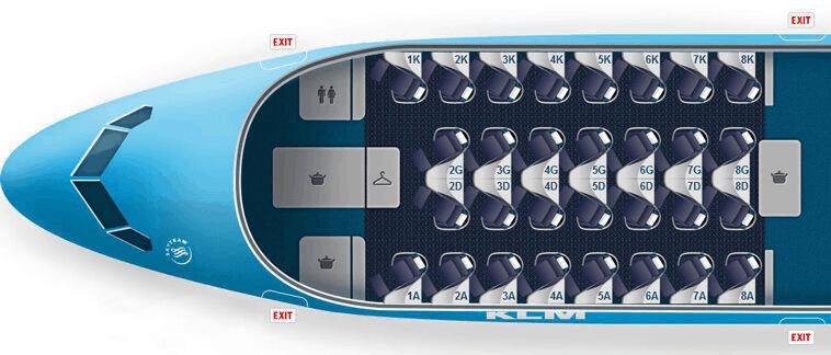 KLM 787 Seatmap Business Class