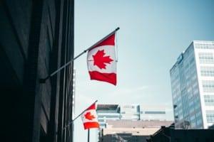Kanada Flagge Ottawa