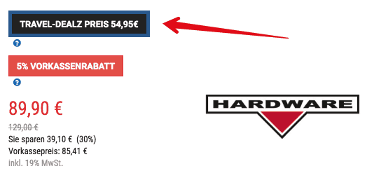 Koffer-Direkt Hardware Trolley Aktion