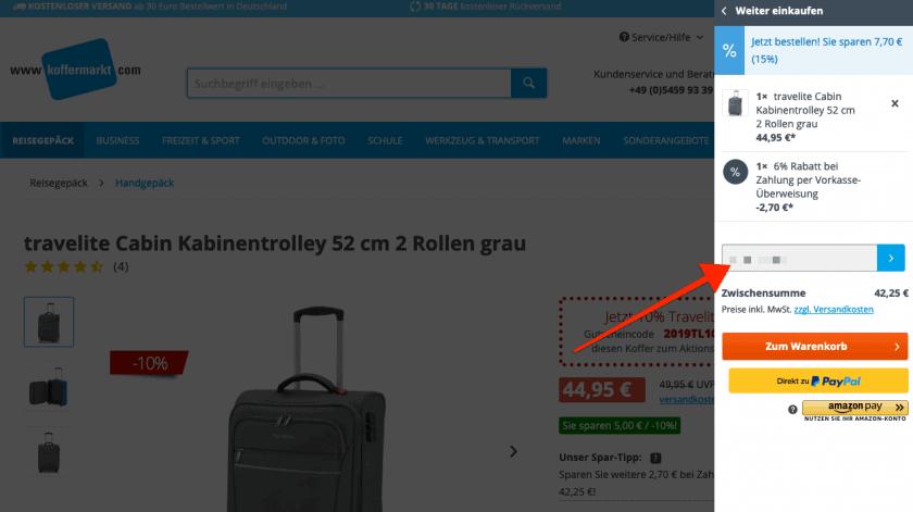 Koffermarkt Gutscheinfeld