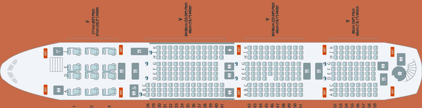 Koreaan Air A380 Seat Map