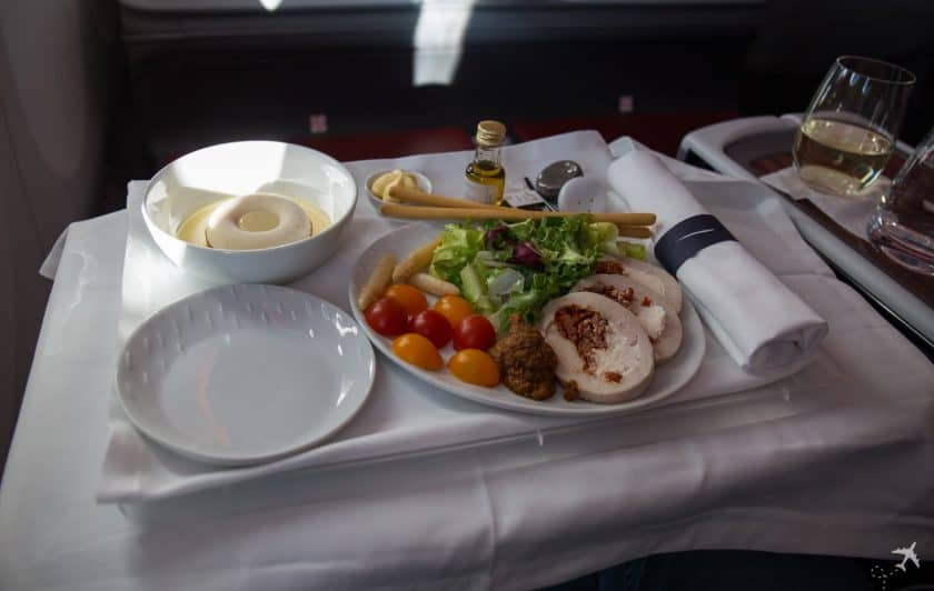 LATAM Boeing 787 Business Class Essen