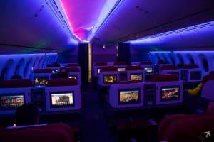 LATAM Boeing 787 Business Class Kabine Lightning
