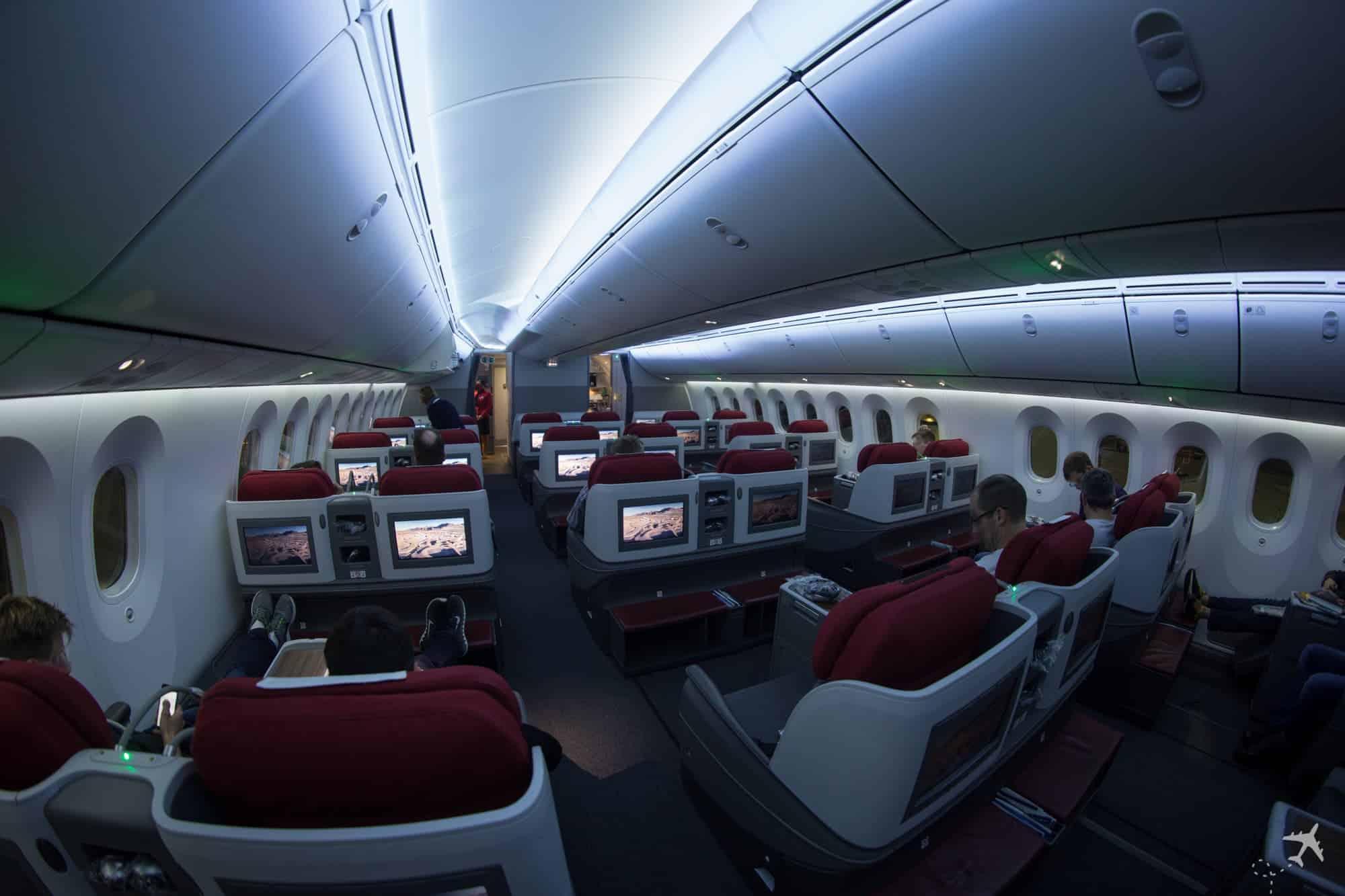 LATAM Boeing 787 Business Class Kabine