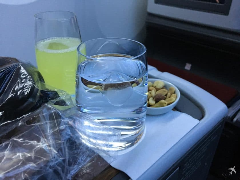 LATAM Boeing 787 Business Class Welcome Drink