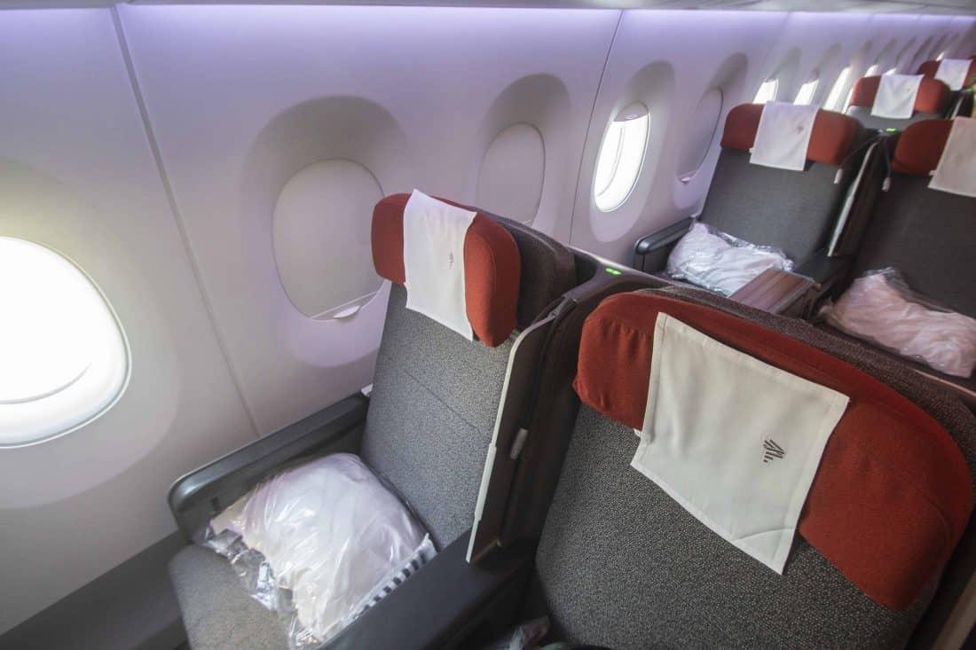 Sitze in der LATAM Business Class im Airbus A350.