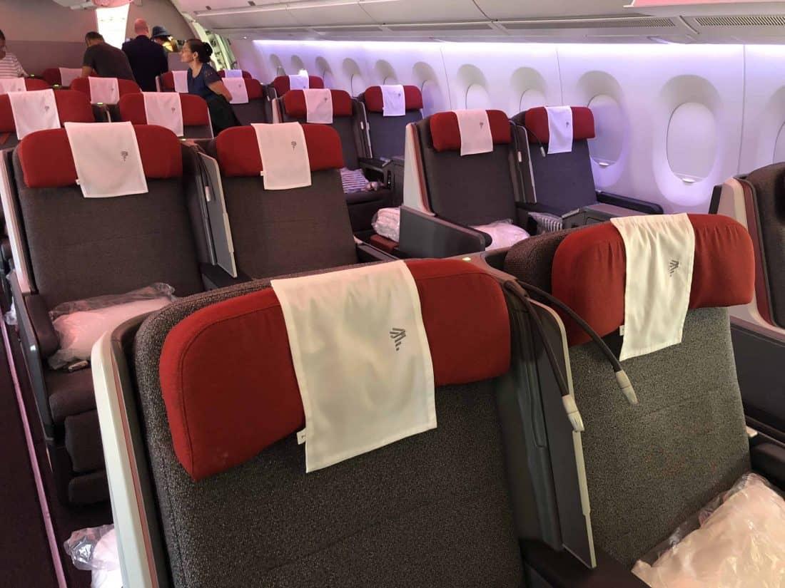 Die LATAM Business Class im Airbus A350.