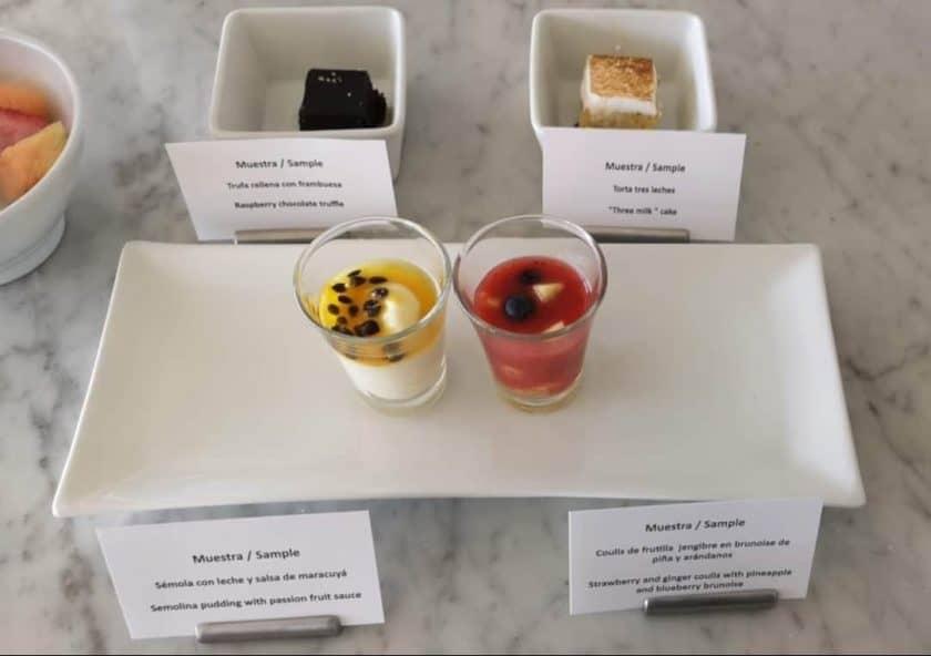 LATAM Lounge SCL Dessert Samples